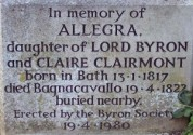 Allegra Byron's tombstone